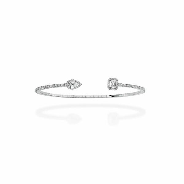 Bracelet Messika My Twin Toi & Moi S en or blanc et diamants