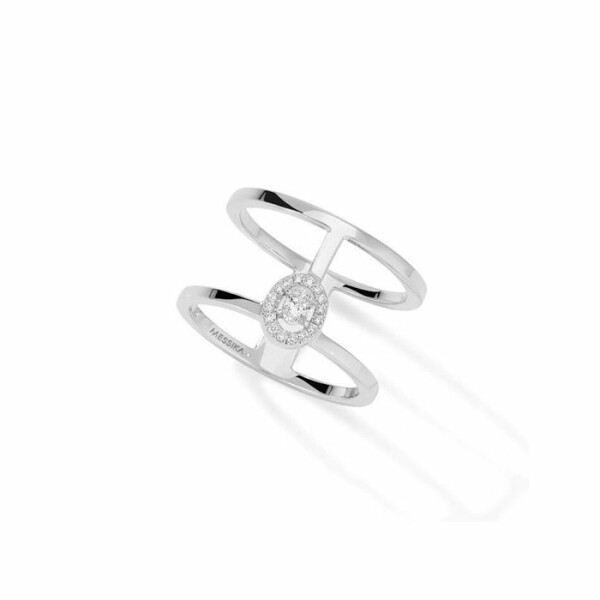 Bague Messika Glam'Azone 2 Rangs en or blanc et diamants