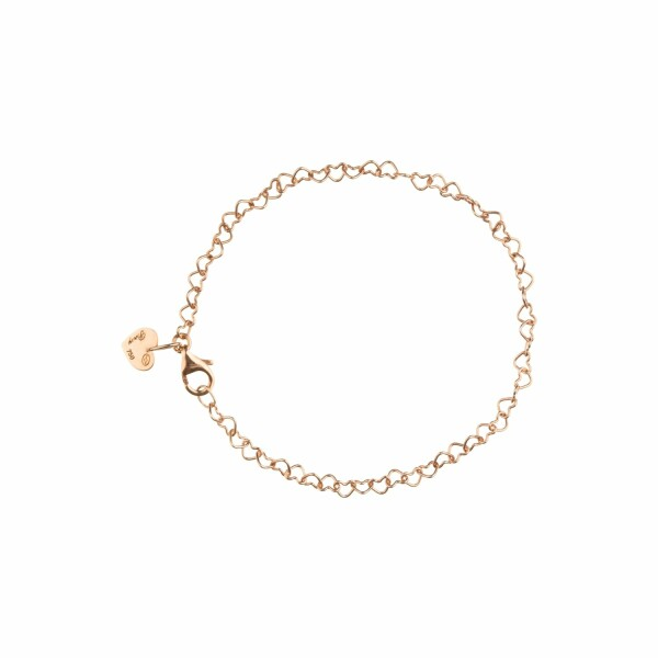 Bracelet Poiray Coeur en or rose
