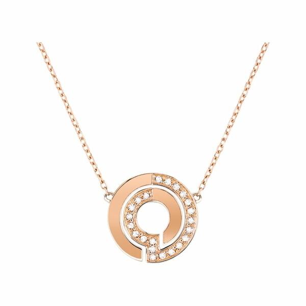 Collier dinh van Seventies en or rose et diamants