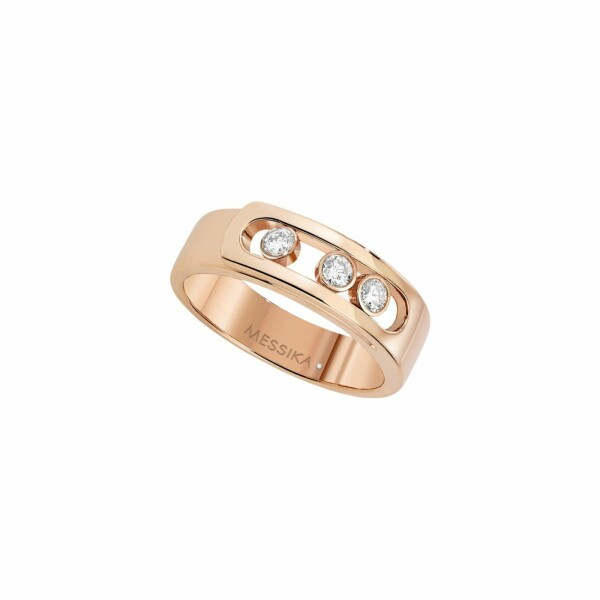 Bague Messika Move Joaillerie Noa en or rose et diamants