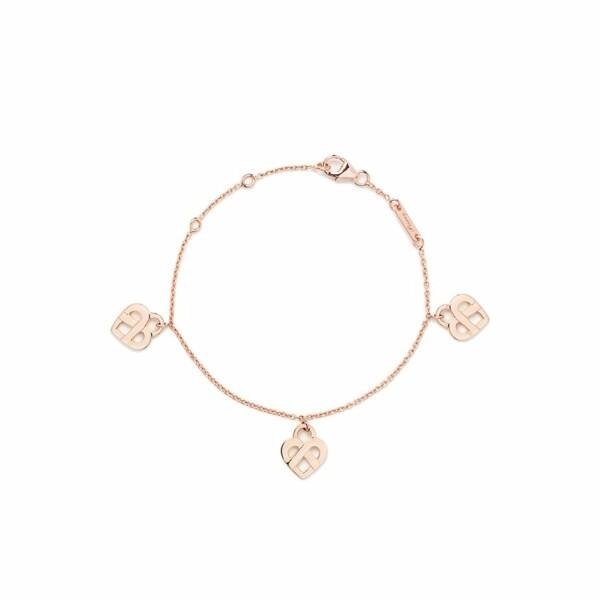 Bracelet Poiray Coeur Entrelacé modèle multi en or rose