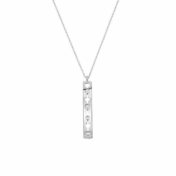Pendentif sur chaîne dinh van Pulse dinh van petit modèle en or blanc et diamants