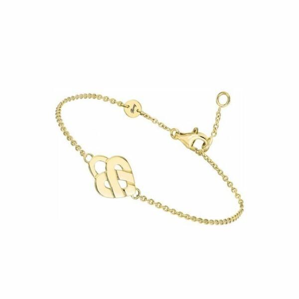 Bracelet Poiray Coeur Entrelacé modèle mini en or jaune