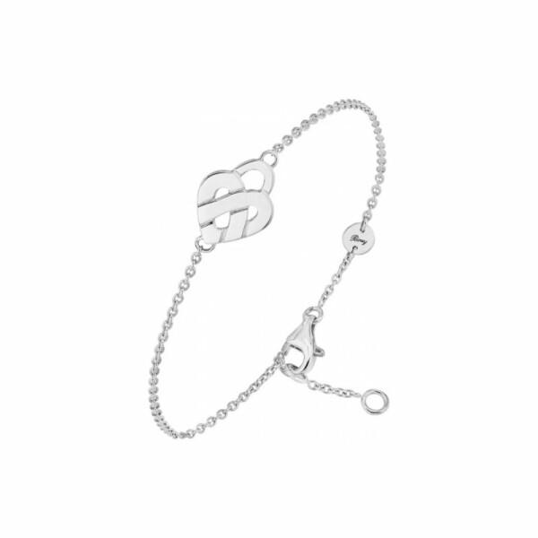 Bracelet Poiray Mini Cœur Entralacé en or blanc