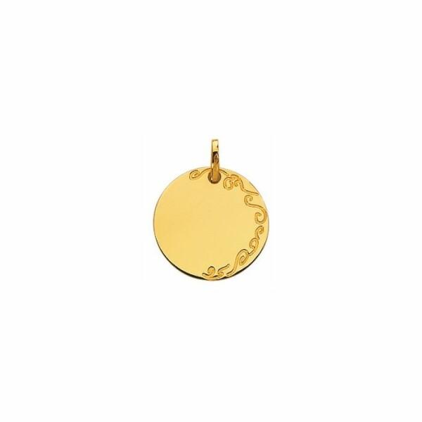 Médaille d'identité en or jaune