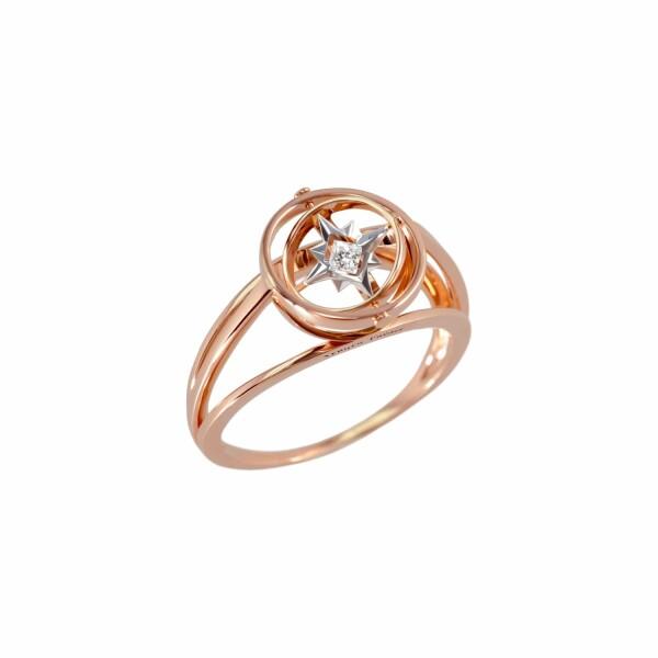 Bague Verger Frères Vertige Princesse en or rose, or blanc et diamant