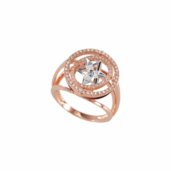 Bague Verger Frères Vertige Reine en or rose, or blanc et diamants