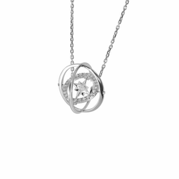 Pendentifs Verger Frères Vertige Princesse en or blanc et diamants