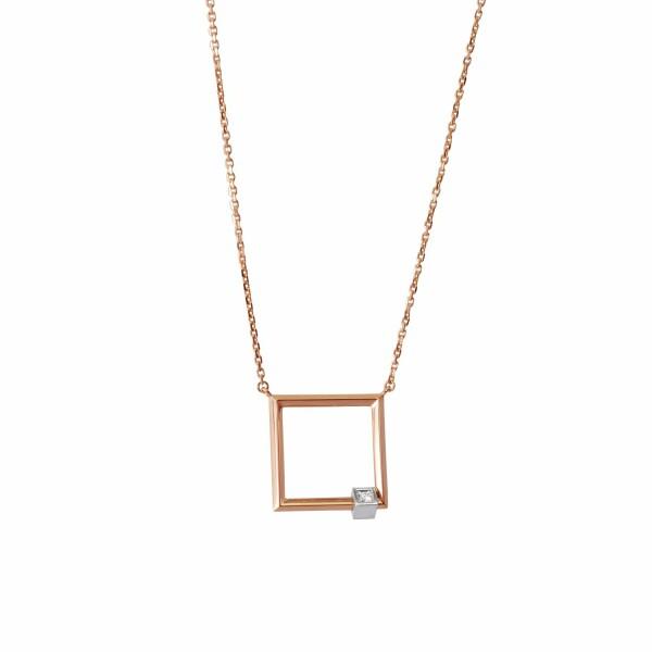Pendentifs Verger Frères Emotion en or rose et or blanc et diamant