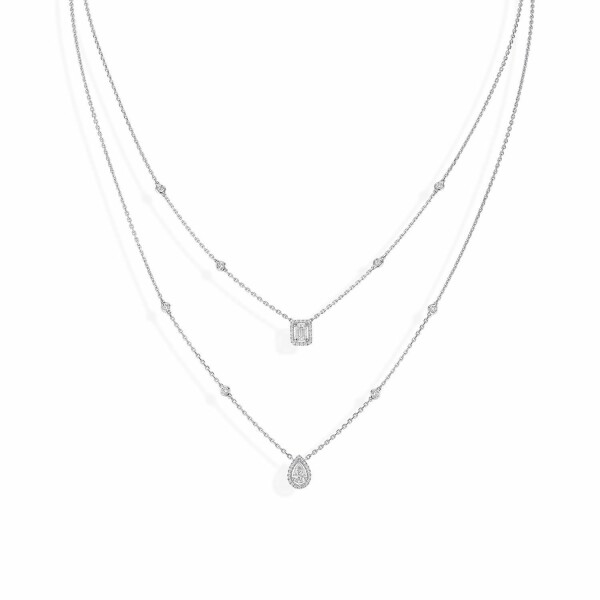Collier Messika My Twin en or blanc et diamants