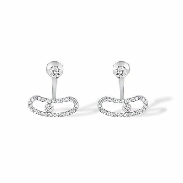 Boucles d'oreilles Messika Move Classique en Or blanc et Diamant