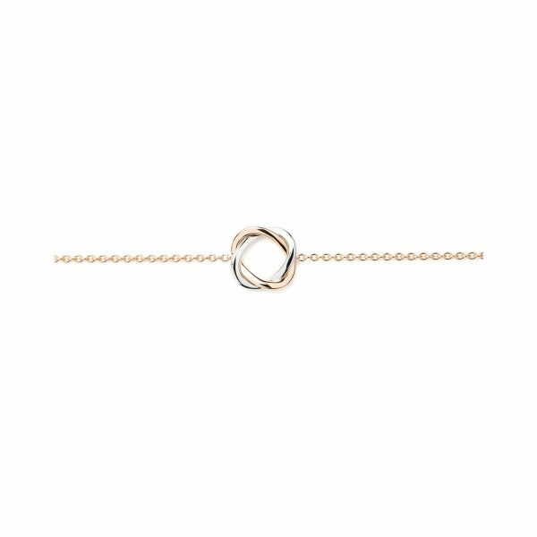 Bracelet Poiray Tresse PM en or blanc, or rose