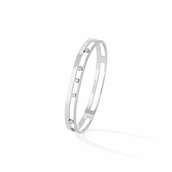 Bracelet Messika Move Joaillerie Romane en or blanc et diamants