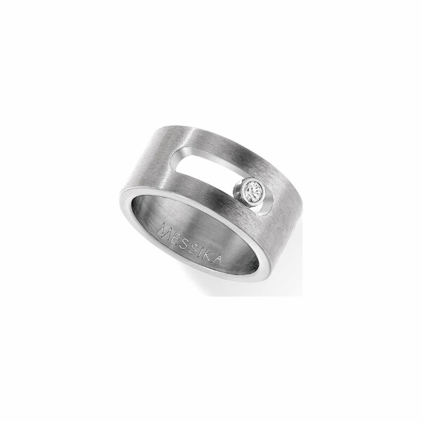 Bague Messika Move Titanium en titane naturel et diamant