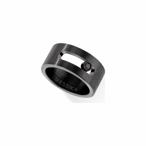 Bague Messika Move Titanium Total Black en Titane et Diamant