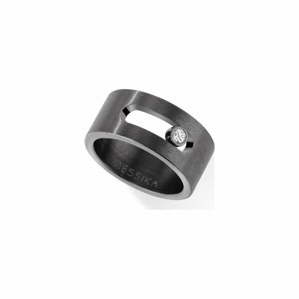 Bague Messika Move Titanium Graphite en titane et diamant