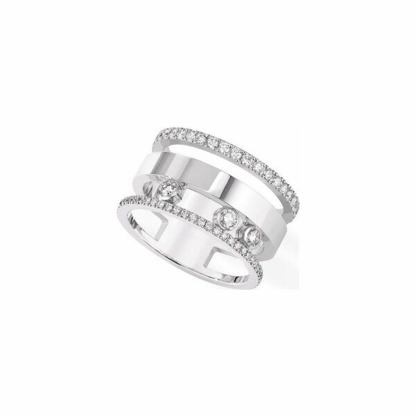 Bague Messika Move Romane en or blanc et diamants