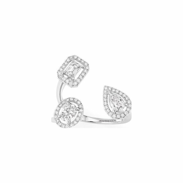Bague Messika My Twin Trilogy en or blanc et diamants