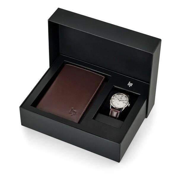 Coffret montre Lip Himalaya 40mm classic et portefeuille 670101