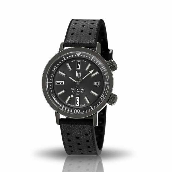 Coffret de montre Lip Nautic-Ski Automatique et bracelet additionnel cuir 671508
