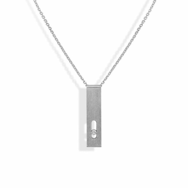 Collier Messika Move Titanium Naturel en titane et diamant