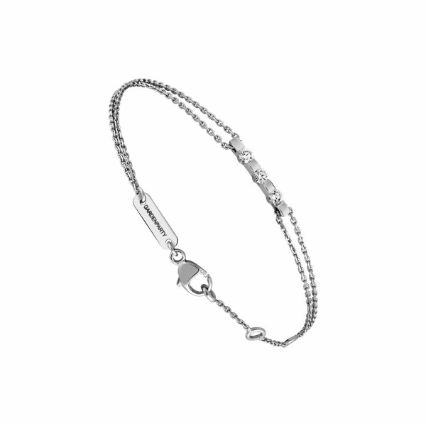 Bracelet Garden Party Eclat en or blanc et diamants