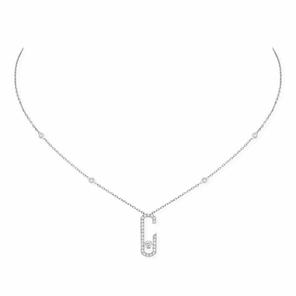 Collier Messika Move Addiction pavé de diamants en or blanc