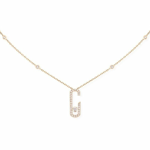 Collier Messika Move Addiction en or rose et diamants