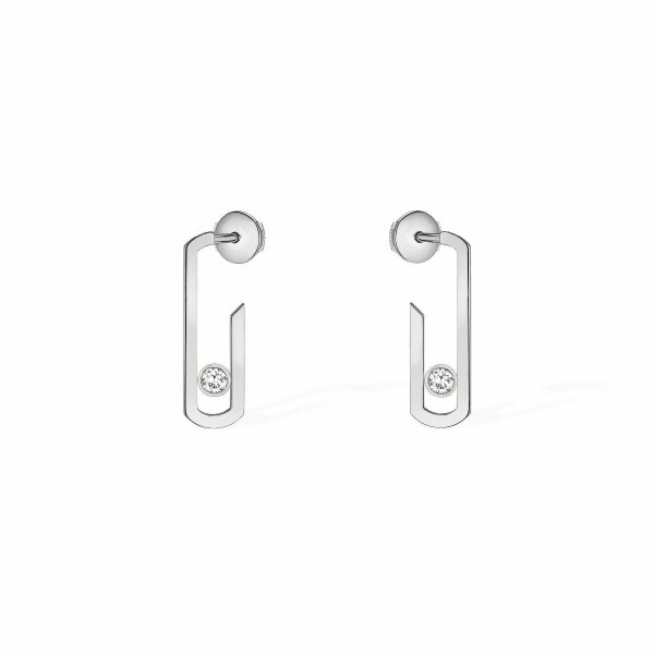 Boucles d'oreilles Messika Move Addiction en or blanc et diamants