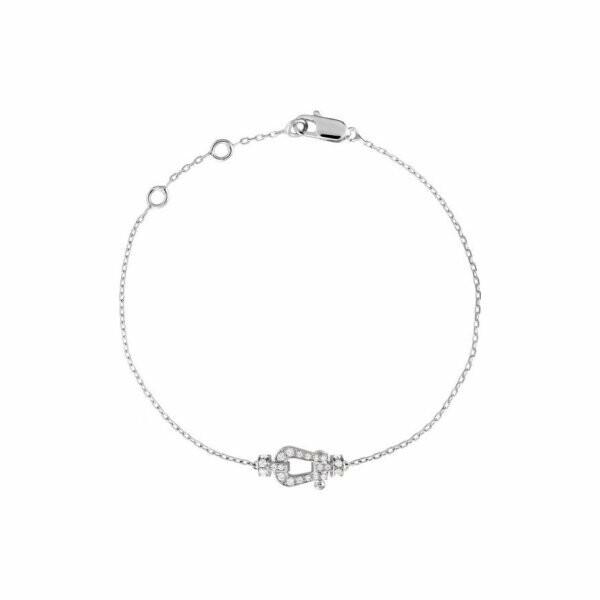 Bracelet petit modèle FRED Force 10 en or blanc et diamants