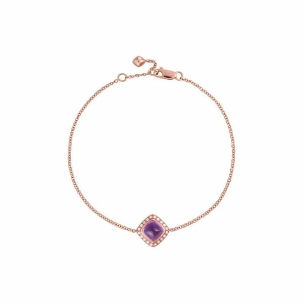 Bracelet FRED Pain de sucre en Or rose, Diamant et améthyste