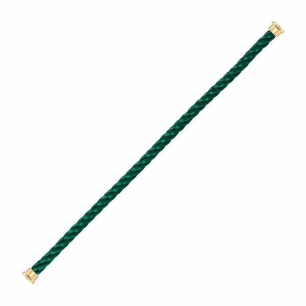 Câble grand modèle FRED Force 10 en acier vert emeraude