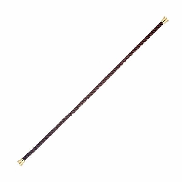 Câble moyen modèle FRED Force 10 en acier chocolat