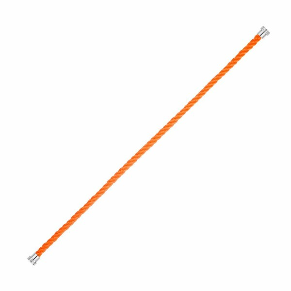 Câble moyen modèle pour bracelet FRED en corderie orange avec embouts acier