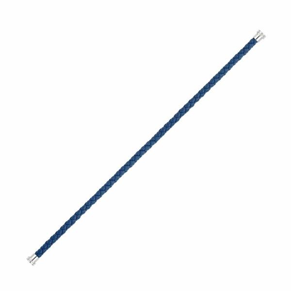 Câble moyen modèle FRED 8°0 en cuir bleu