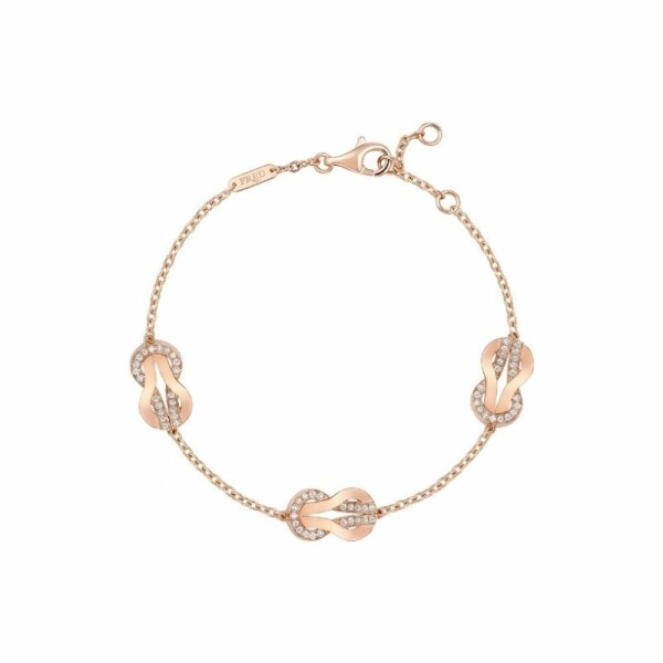 Bracelet FRED 8°0 en or rose et diamants