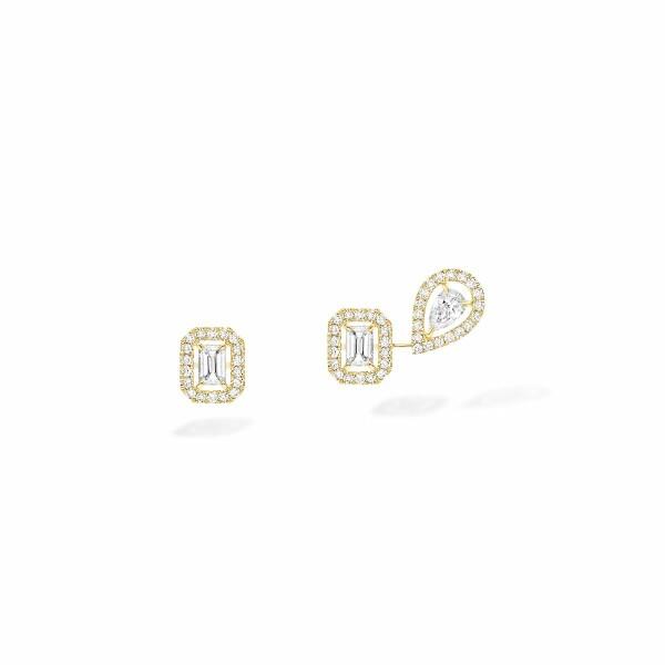 Boucles d'oreilles Messika My Twin 1+2 en or jaune et diamants