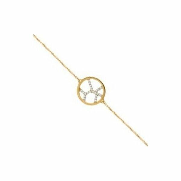 Bracelet chaîne Les Georgettes Les Précieuses Girafe doré, D16mm