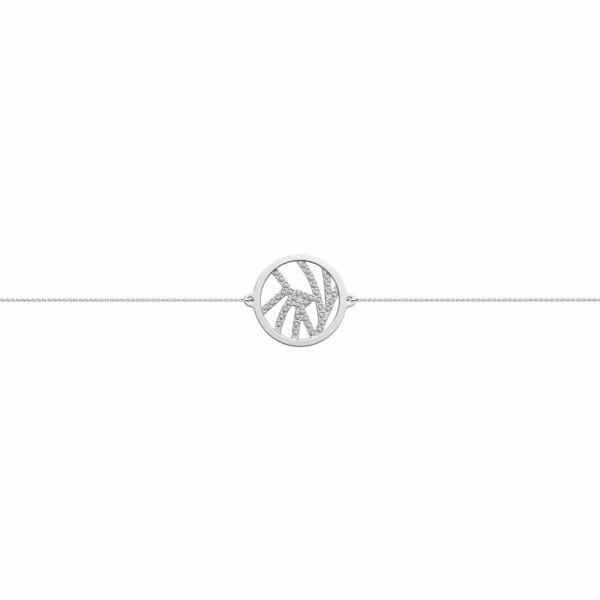 Bracelet chaîne Les Georgettes Les Précieuses Perroquet argenté, D16mm