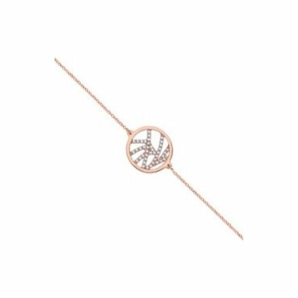 Bracelet chaîne Les Georgettes Les Précieuses Perroquet doré rose, D16mm