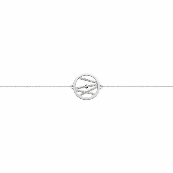 Bracelet chaîne Les Georgettes Les Précieuses Liens argenté, D16mm
