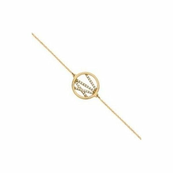 Bracelet chaîne Les Georgettes Les Précieuses Liens doré, D16mm