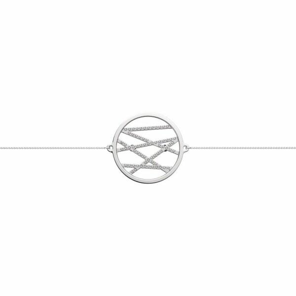 Bracelet chaîne Les Georgettes Les Précieuses Liens argenté, D25mm