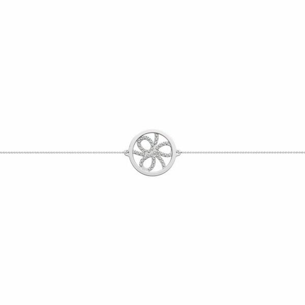 Bracelet chaîne Les Georgettes Les Précieuses Petales argenté, D16mm