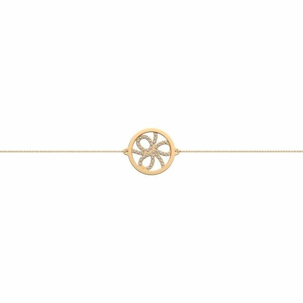 Bracelet chaîne Les Georgettes Les Précieuses Petales doré, D16mm