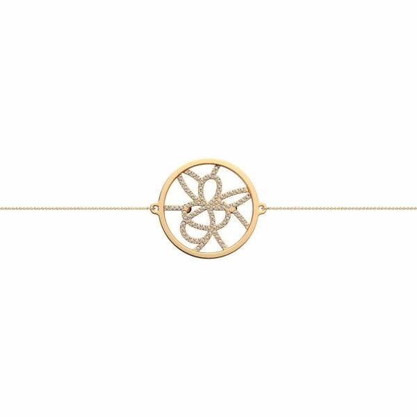Bracelet chaîne Les Georgettes Les Précieuses Petales doré, D25mm