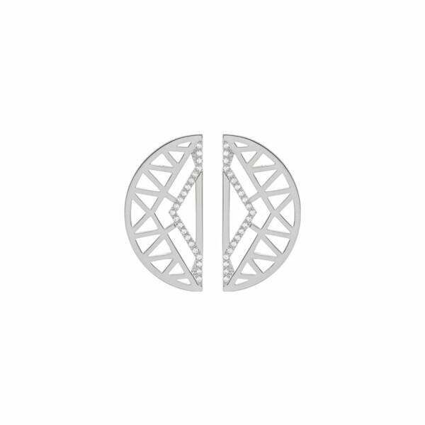 Boucles d'oreilles Les Georgettes Les Précieuses Sioux argentées, 30mm