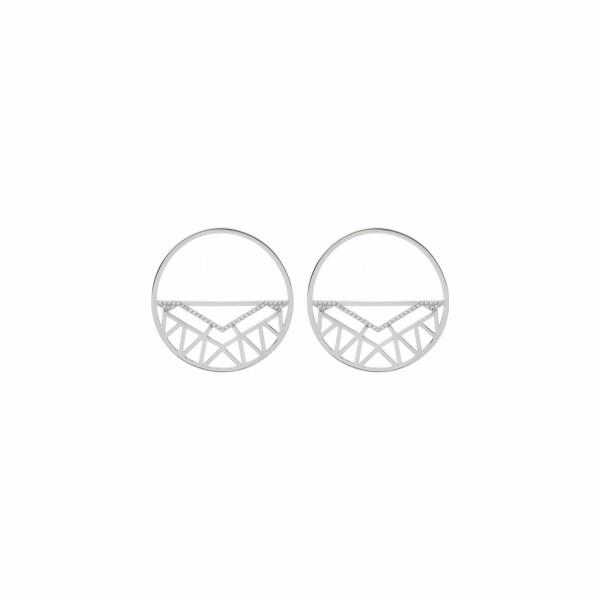 Boucles d'oreilles Les Georgettes Les Précieuses Sioux argentées, 43mm