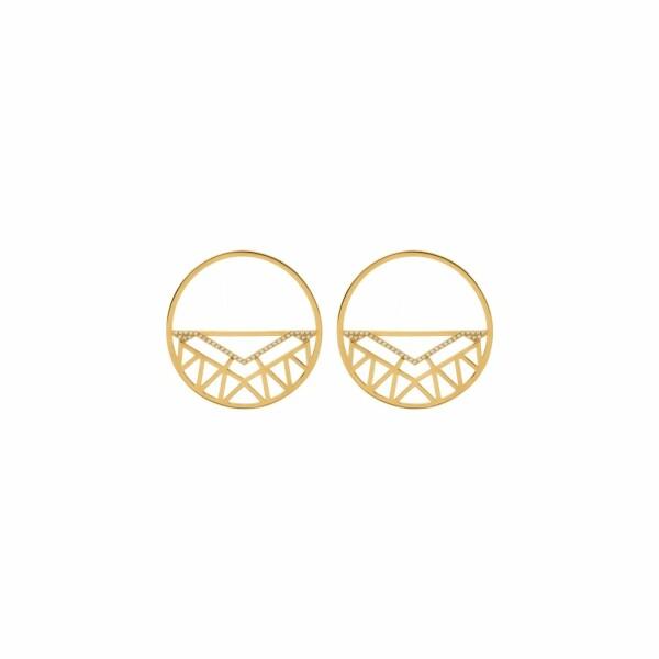 Boucles d'oreilles Les Georgettes Les Précieuses Sioux dorées, 43mm